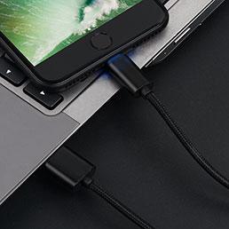 Chargeur Cable Data Synchro Cable L13 pour Apple iPhone SE Noir