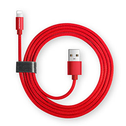Chargeur Cable Data Synchro Cable L14 pour Apple iPhone 5C Noir