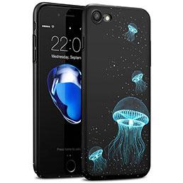 Coque Plastique Rigide Fluorescence pour Apple iPhone 7 Noir