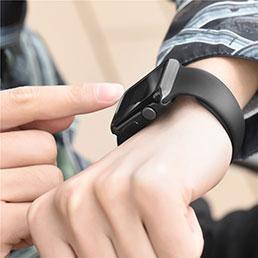 Coque Ultra Fine Silicone Souple Transparente pour Apple iWatch 38mm Noir