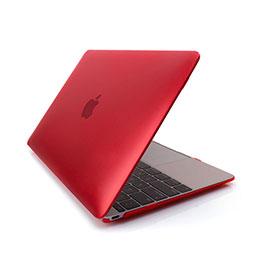Coque Ultra Slim Mat Rigide Transparente pour Apple MacBook 12 pouces Rouge