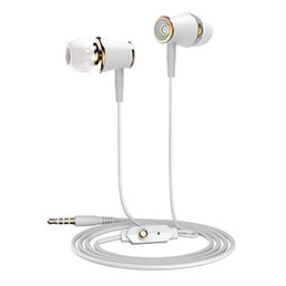 Ecouteur Casque Filaire Sport Stereo Intra-auriculaire Oreillette H06 Or