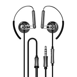 Ecouteur Casque Filaire Sport Stereo Intra-auriculaire Oreillette H22 Noir