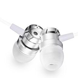 Ecouteur Filaire Sport Stereo Casque Intra-auriculaire Oreillette H10 Blanc