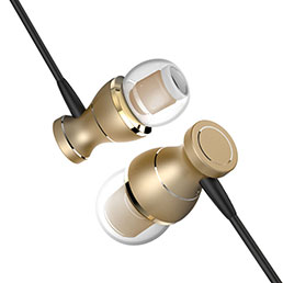 Ecouteur Filaire Sport Stereo Casque Intra-auriculaire Oreillette H34 Or