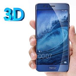 Film Verre Trempe Protecteur d'Ecran 3D pour Huawei Honor 8 Clair