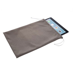 Housse Pochette Velour pour Apple iPad 2 Gris