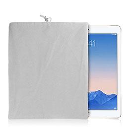 Housse Pochette Velour Tissu pour Huawei MediaPad X2 Blanc