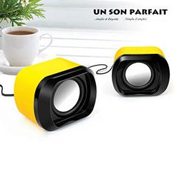 Mini Haut-Parleur Enceinte Portable Haut Parleur Jaune