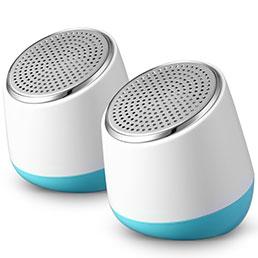 Mini Haut-Parleur Enceinte Portable Haut Parleur S02 Blanc