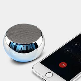 Mini Haut Parleur Enceinte Portable Sans Fil Bluetooth Haut-Parleur S03 Argent