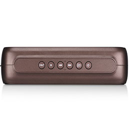 Mini Haut Parleur Enceinte Portable Sans Fil Bluetooth Haut-Parleur S09 Marron