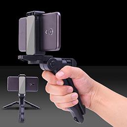 Perche de Selfie Filaire Baton de Selfie Cable Extensible de Poche Universel S21 Noir