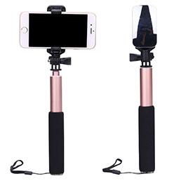 Perche de Selfie Sans Fil Bluetooth Baton de Selfie Extensible de Poche Universel S13 Or Rose