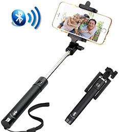 Perche de Selfie Sans Fil Bluetooth Baton de Selfie Extensible de Poche Universel S14 Noir