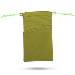 Pochette Velour Etui Universel Vert