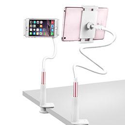 Support de Bureau Support Tablette Flexible Universel Pliable Rotatif 360 T33 pour Apple iPad 2 Or Rose
