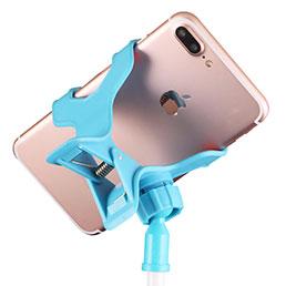 Support de Bureau Support Telephone Flexible Universel Pliable Rotatif 360 T15 Blanc