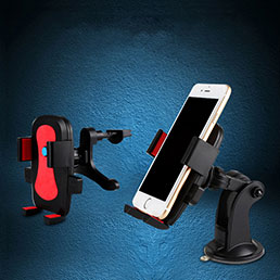 Support Telephone Voiture avec Ventouse Universel M03 Noir