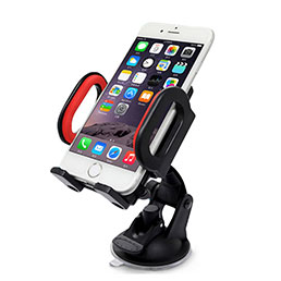 Support Telephone Voiture avec Ventouse Universel M11 Rouge