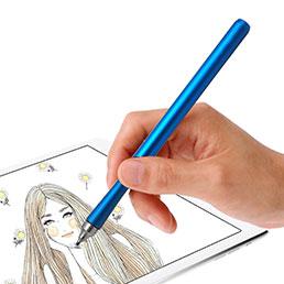 Stylet Tactile Ecran Haute Precision de Stylo Dessin Universel P13 Bleu