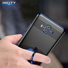 Coque Ultra Fine Silicone Souple Transparente et Support pour Huawei Mate 10 Bleu