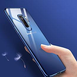 Coque Ultra Fine TPU Souple Transparente T09 pour Samsung Galaxy S9 Plus Bleu