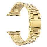Bracelet Metal Acier Inoxydable pour Apple iWatch 3 42mm Or