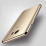 Coque Contour Silicone Transparente Gel pour Samsung Galaxy Note 5 Or