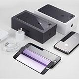 Film Protecteur d'Ecran Verre Trempe Anti-Lumiere Bleue B02 pour Apple iPhone 8 Plus Bleu