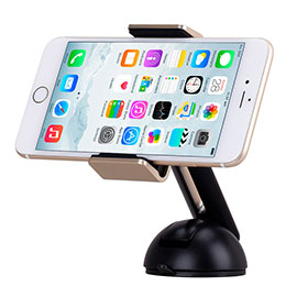 Support Telephone Voiture avec Ventouse Universel M13 Or