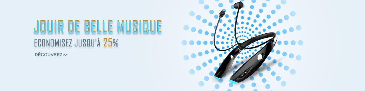 Ecouteur Sport Bluetooth Stereo Casque Intra-auriculaire Sans fil Oreillette H52 Noir