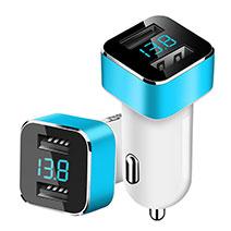 3.1A Adaptateur de Voiture Chargeur Rapide Double USB Port Universel Bleu Ciel