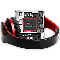 Casque Ecouteur Sport Bluetooth Stereo Intra-auriculaire Sans fil Oreillette H72 Rouge
