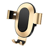 Support Telephone Voiture Grille Aeration Universel Or