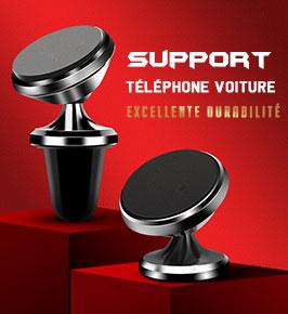 Support Telephone Voiture Magnetique Aimant Universel M28 Noir