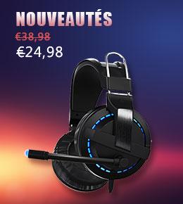 Casque Ecouteur Filaire Sport Stereo Intra-auriculaire Oreillette H64 Noir