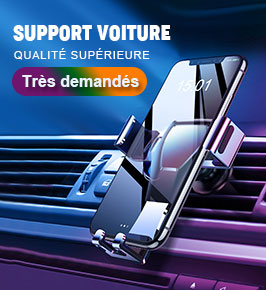 Support Telephone Voiture Grille Aeration Universel A04 Noir