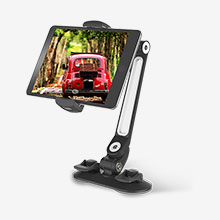 Support de Bureau Support Tablette Flexible Universel Pliable Rotatif 360 H11 pour Apple New iPad 9.7 (2018) Noir