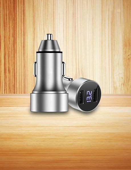 Adaptateur de Voiture Chargeur Rapide Double USB