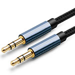 Cable Auxiliaire Audio Stereo Jack 3.5mm Male vers Male A04 Noir