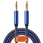 Cable Auxiliaire Audio Stereo Jack 3.5mm Male vers Male A05 Bleu