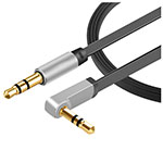 Cable Auxiliaire Audio Stereo Jack 3.5mm Male vers Male A07 Noir