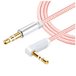 Cable Auxiliaire Audio Stereo Jack 3.5mm Male vers Male A08 Rose