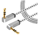 Cable Auxiliaire Audio Stereo Jack 3.5mm Male vers Male A13 Argent