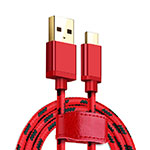 Cable Type-C Android Universel T09 Rouge