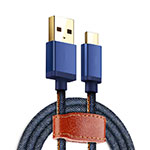 Cable Type-C Android Universel T10 Bleu