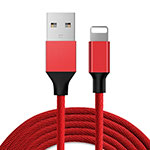 Chargeur Cable Data Synchro Cable D03 pour Apple iPhone 11 Pro Rouge