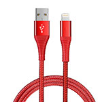 Chargeur Cable Data Synchro Cable D14 pour Apple iPhone 11 Pro Rouge