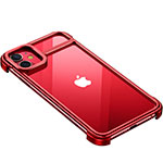 Coque Bumper Luxe Aluminum Metal Etui T02 pour Apple iPhone 11 Rouge